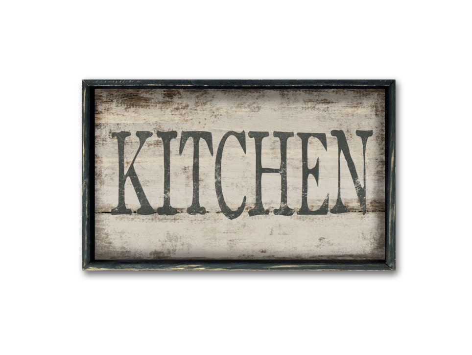 Wall Art Signs Kitchen : Kitchen wooden sign decor wall art restaurant