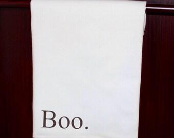 Halloween Kitchen Dish Towel - Boo -  Tea Towel, Dish Cloth, Flour Sack Towel, Kitchen Decor, Halloween Decor - You've Been Booed!