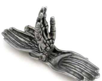 Human Hand Keychain - Anatomical Hand, Articulating Skeleton Keychain, Palmistry, Anatomy