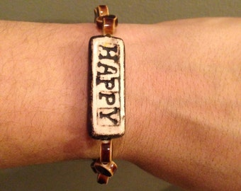 Happy ceramic bracelet