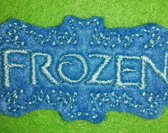 Set of 4 Frozen Title Feltie Felt Embellishment Bow! Birthday Party