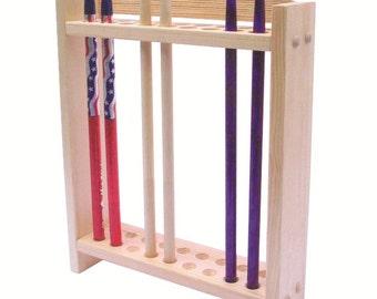 items similar to drum stick display drumstick holder solid wood construction holds 1 stick. Black Bedroom Furniture Sets. Home Design Ideas