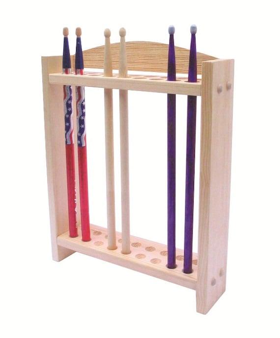 drum stick display drumstick holder solid wood construction. Black Bedroom Furniture Sets. Home Design Ideas