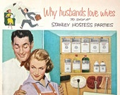 1950s Vintage Home Decor Ad STANLEY HOSTESS PARTY Fifties Wife Husband MidCentury Retro Print Ad