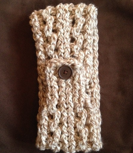 Lace Ribbed Ear Warmer - a loom knit pattern