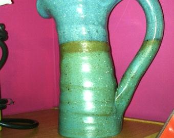 Hand  thrown ceramic pitcher