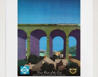 Travel Poster Railroad Art Train Print (TR65)