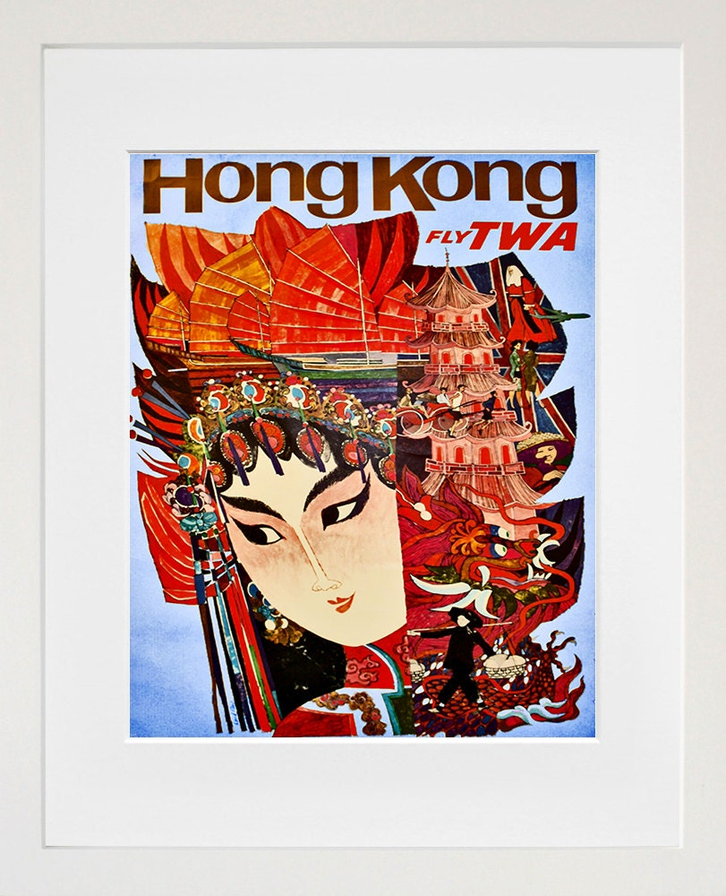 Hong Kong Travel Art Print Home Decor Zt312