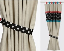 Baby Nursery and Kids Blackout Linen and ORGANIC COTTON Curtain Panel. Custom sizes. Selection of specialist nursery linings available.
