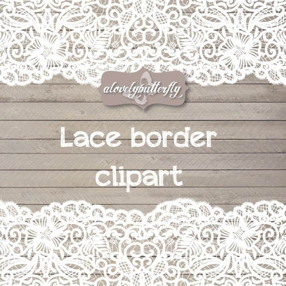 Wedding clipart lace border rustic clipart by alovelybutterfly
