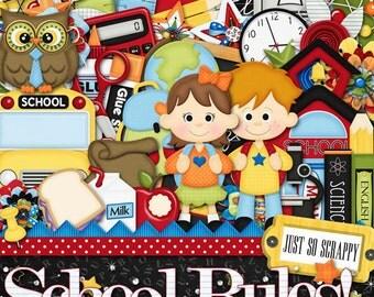 Digital Scrapbooking Kit School Rules Kit - Digital Scrap Kit