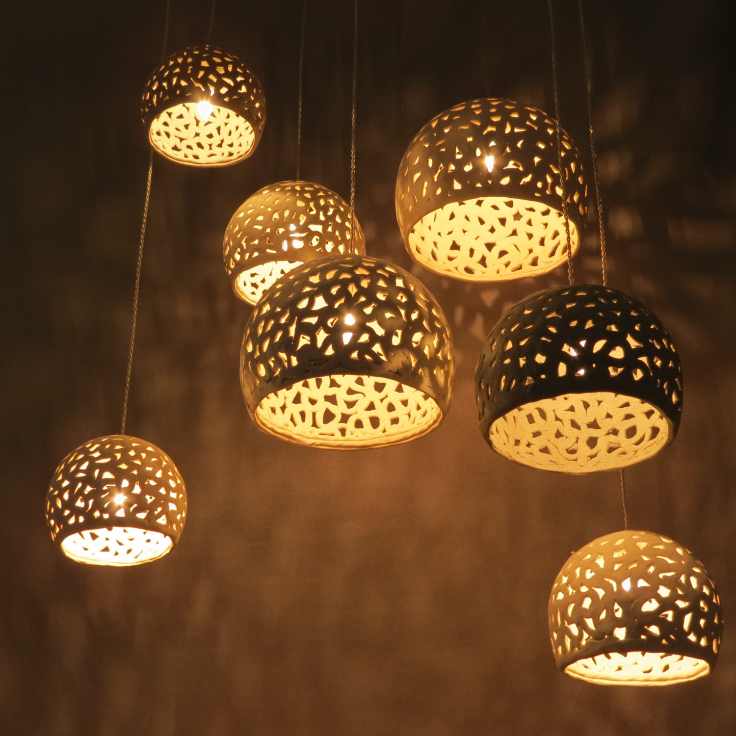 Pendant lights ceiling chandelier modern hanging light - Can light chandelier ...