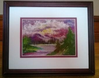 Dwelling Place  (needle-felted landscape fiber art)