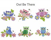 Owl Be There Baby Animals Machine Embroidery Designs Pack Instant Download 4x4 hoop 10 designs APE2044