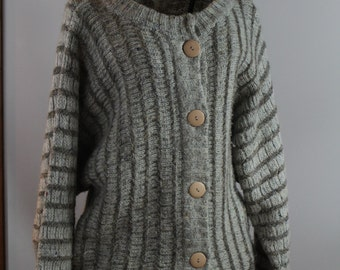 1970s Hudson Bay Sweater,  acrylic and wool vintage cardigan