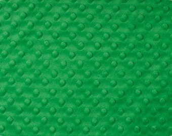 Kelly Green Cuddle Minky Dot Fabric  (Shannon Fabrics)