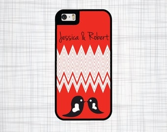 Personalized iPhone Case, iPhone 4 Case, iPhone 4s, iPhone 5 Case, iPhone 5s, iPhone 5c Case, iPhone 6 Case, Love Birds, Phone Case