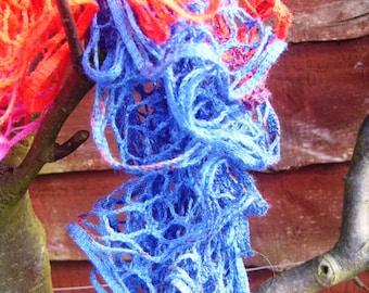 colourful ruffle scarf
