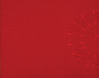 Grace Taylor Scrapbook Album 12x12 Embroidered Fabric.  Ruby.  Snapload style.  Ruby. (50% off, was 24.99)