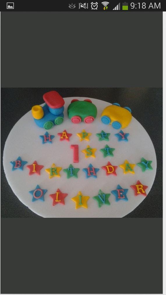 edible boys girls train birthday celebration cake topper 1st