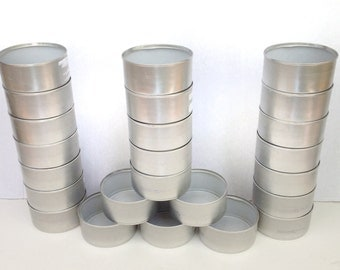 Craft Cans Silver or Gold or Mixed Colored For UpCycling ReUse ReCycle Lot of 12 Candle Holders