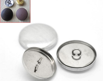 """10 Wire Back Cover Buttons, size 40, 1"""" (24mm)"""
