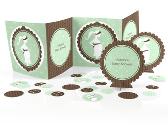It's A Baby Centerpiece Kit - 39 Piece Custom Decoration Kit for a Baby Shower Party