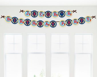 Ahoy Mates! Pirate Garland Banner - Custom Party Decorations