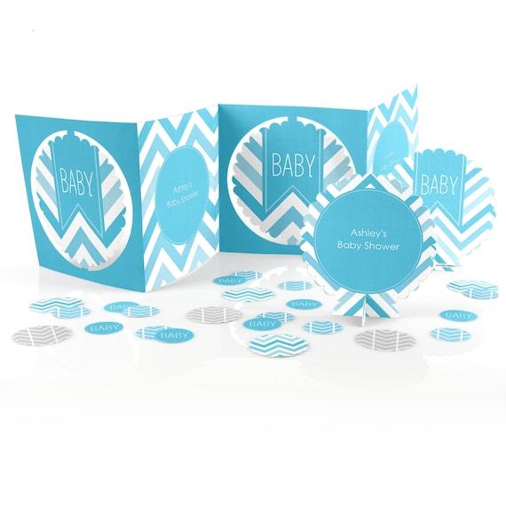Chevron blue centerpiece kit piece custom decoration