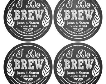 Custom Craft Beer Labels for Home Brewers - Custom Beer Bottle Labels - Personalized Beer Label - Waterproof Beer Labels - 4 labels