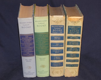 Readers Digest Condensed Books 1950's Vintage Book Ephemera Classic Novels  Home Decor Libraries Collectors Literature and Fiction
