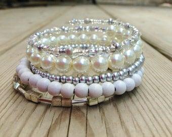 Simply White Wrap Bracelet