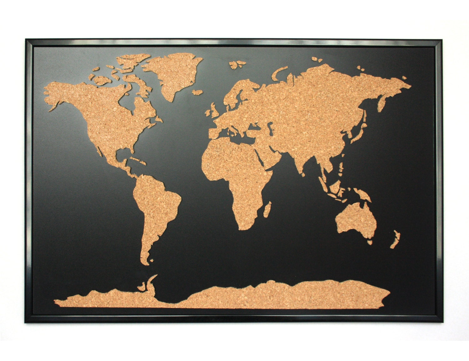 Cork World Map Etsy - Us travel map push pin