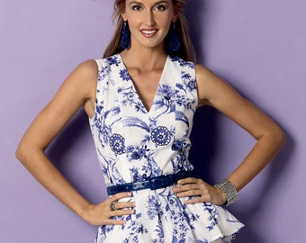 Butterick Sewing Pattern B6025 Misses' Pleated Fit and Flare Top, Tunic and Dress