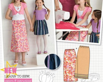 Child/Girl Skirts Simplicity Pattern 2576