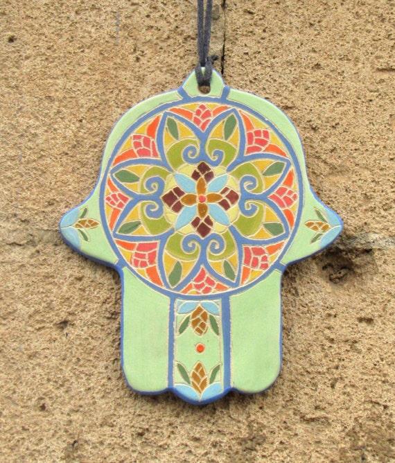 Items Similar To Handpainted Ceramic Hamsa