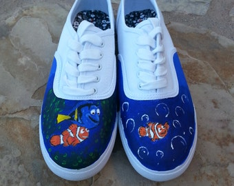 Hand painted Finding Nemo Shoes