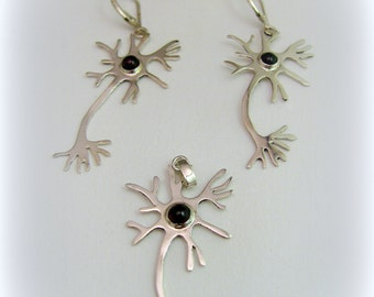 Silver neuron jewelry