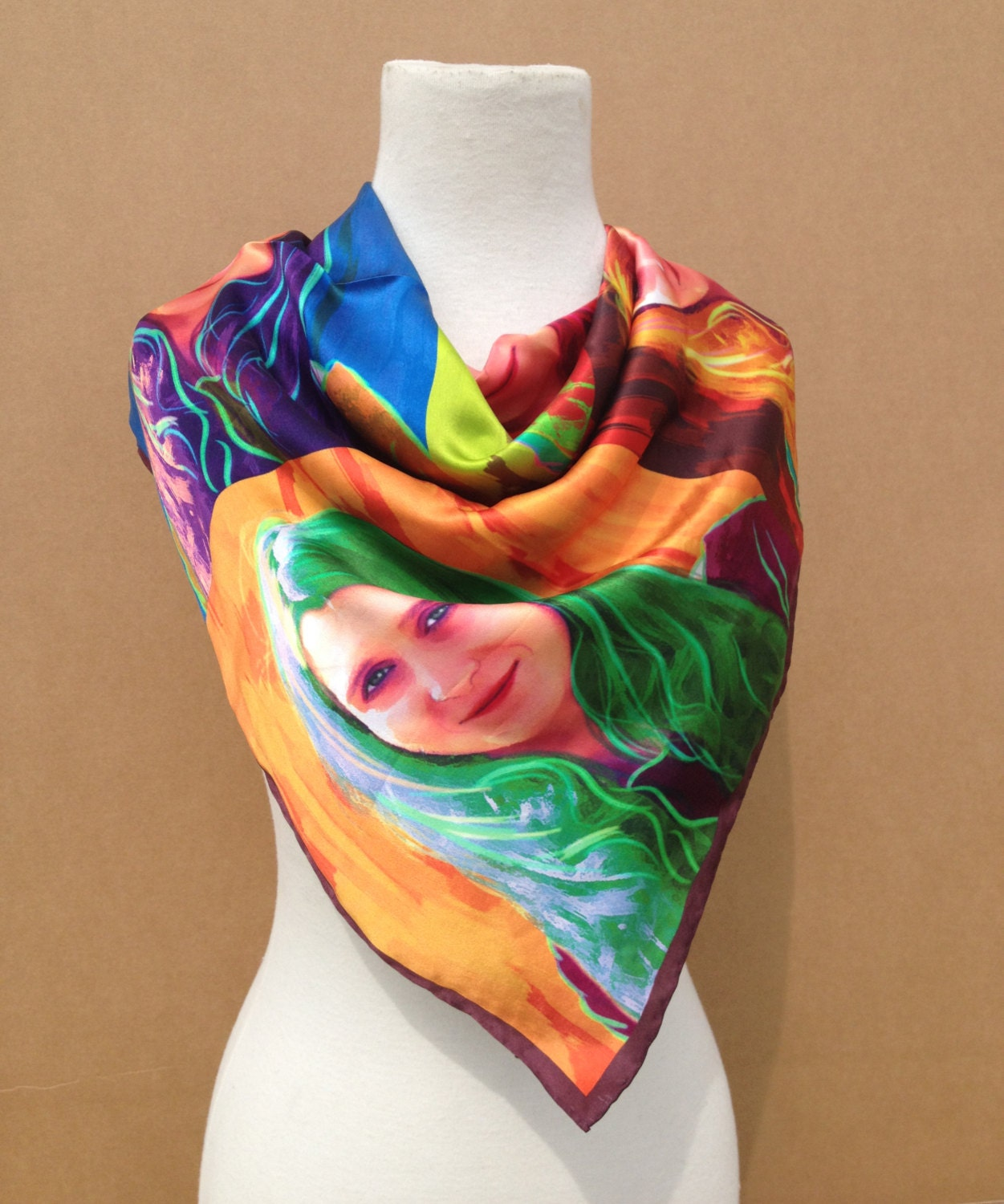 personalized pop silk scarf made from your by mydavinci