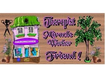 Hairdresser Wood Signs  - Handmade Wood sign, Stylist  GS646 Hairdresser wood sign, Hairdresser plaque
