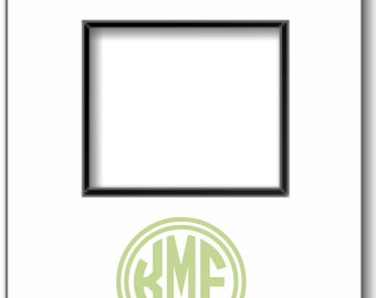 Monogram Photo Mat, Monogrammed Picture Mat, Personalized Photo Mat