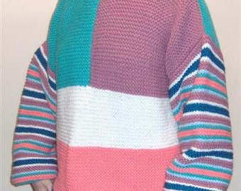 Multicolor sweater. Also available in children sizes.