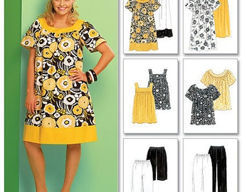 McCall's Pattern M5640 Women's Tops, Dresses, Shorts and Capri Pants