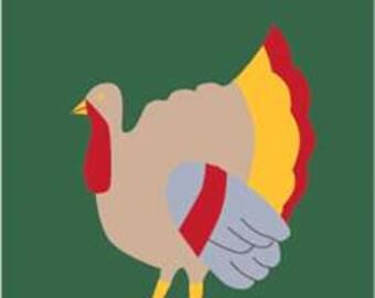 Turkey Handcrafted Applique Garden Flag