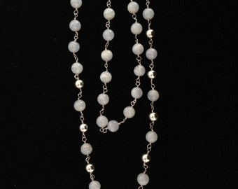 Chalcedony  Silver Necklace