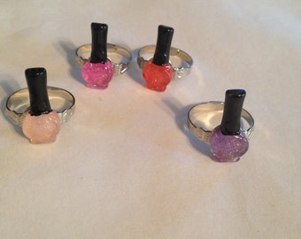 Nail Polish Rings! Cool!!