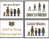 Four Guardians of the Galaxy Cross Stitch Pattern Downloads