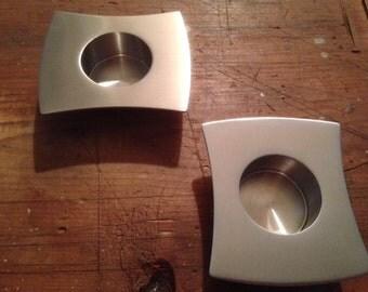 Studio Square Tealight holder pair
