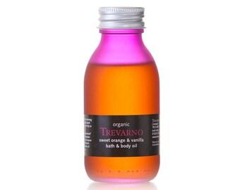 Organic Trevarno Sweet Orange & Vanilla Bath and Body Oil