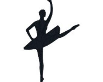 BUY 2, GET 1 FREE - Ballerina Silhouette Machine Embroidery Design (#1), Dancer, Ballet, in 3 Sizes - 4x4, 5x7, 6x10